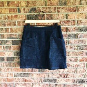 { LOFT } Denim Mini Skirt
